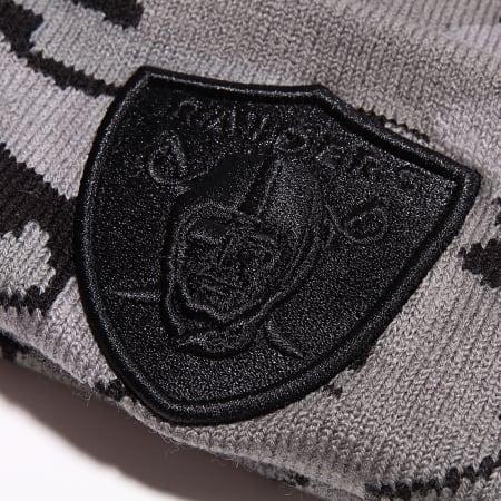 New Era - Bonnet Textured Yarn Knit 12040604 Oakland Raiders Gris Noir