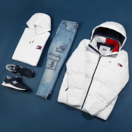 Tommy Jeans - Doudoune Essential Down 6902 Blanc