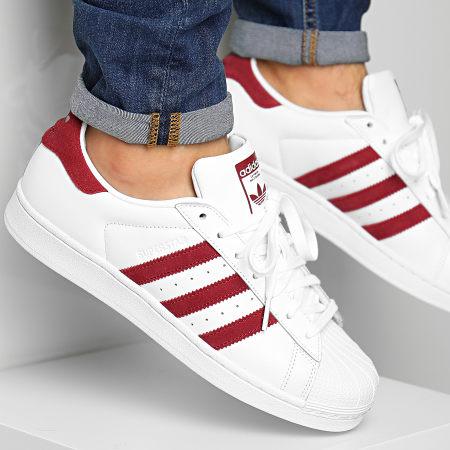 adidas - Baskets Superstar EF9240 Footwear White Burgundy