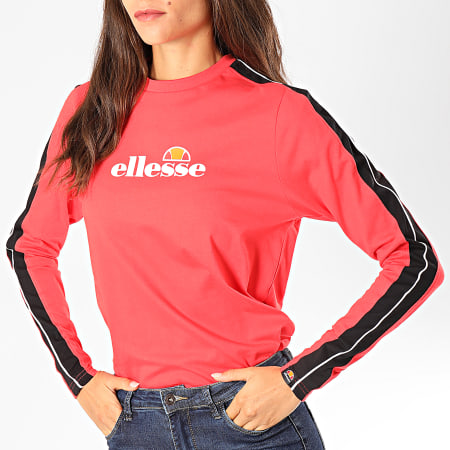 Ellesse - Tee Shirt Manches Longues Femme A Bandes Orsola SGC07382 Rose