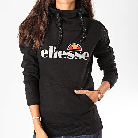 Ellesse - Sweat Capuche Femme Sassari 2 SRC08173 Noir Réfléchissant