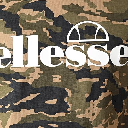 Ellesse - Tee Shirt Camouflage A Bandes Livenza SHC07392 Vert Kaki Blanc Noir