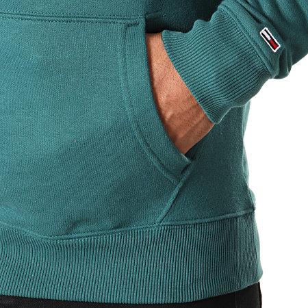 Tommy Hilfiger Jeans - Sweat Capuche Essential 1985 Logo 7025 Vert