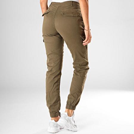 Urban Classics - Pantalon Cargo Femme TB3048 Vert Kaki