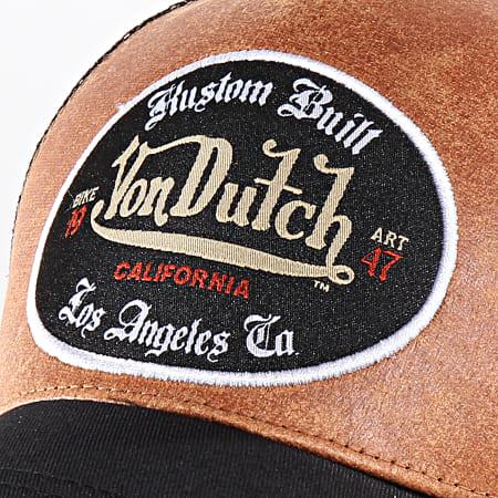 Von Dutch - Casquette Trucker Kustom Noir Marron