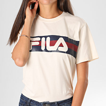 Fila - Tee Shirt Femme Azrielle Ecru