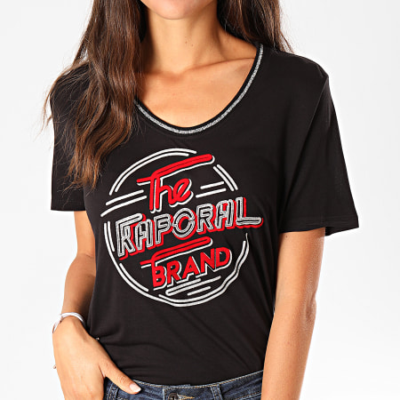 Kaporal - Tee Shirt Femme Week Noir Argenté