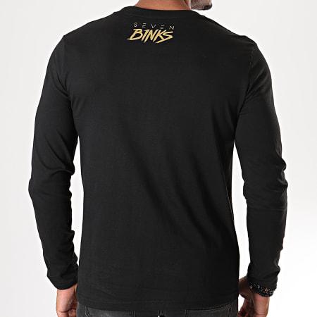 7 Binks - Tee Shirt Manches Longues Seven Noir Doré