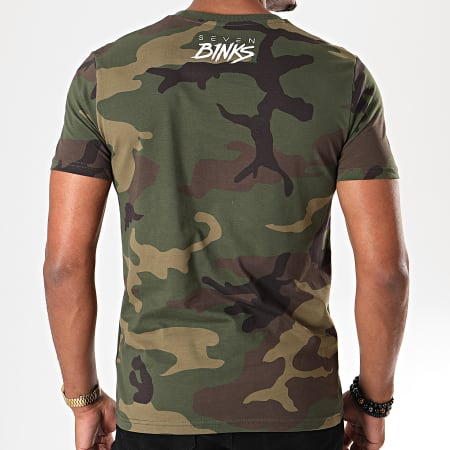 7 Binks - Tee Shirt Seven Camouflage Vert Kaki