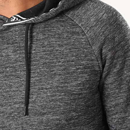 Deeluxe - Sweat Capuche Papel Gris Anthracite Chiné