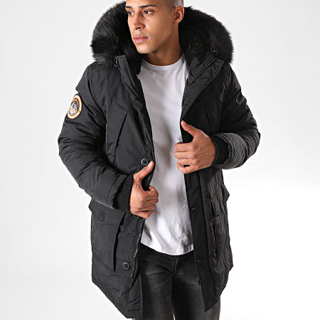 Superdry - Parka Fourrure Everest M5000040A Noir