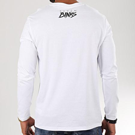 7 Binks - Tee Shirt Manches Longues Seven Blanc Noir
