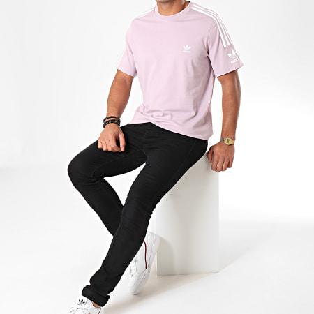adidas Tee Shirt A Bandes Tech ED6118 Lila Blanc