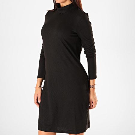 Vero Moda - Robe Pull Femme Col Roulé Malena Noir