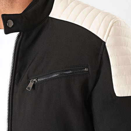 MTX - Veste Biker 944 Noir Blanc
