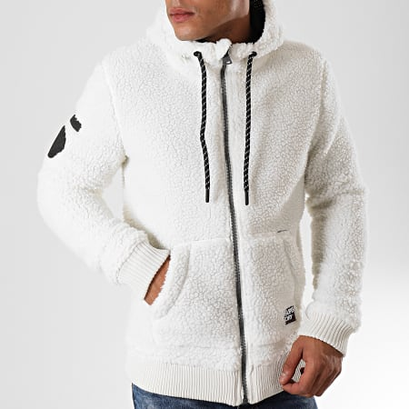 Superdry Veste Zippée Capuche Core Sherpa M2000004A Blanc