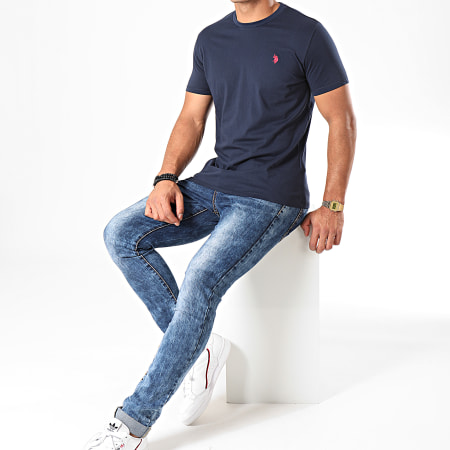 US Polo ASSN - Tee Shirt Basic Uspa Bleu Marine