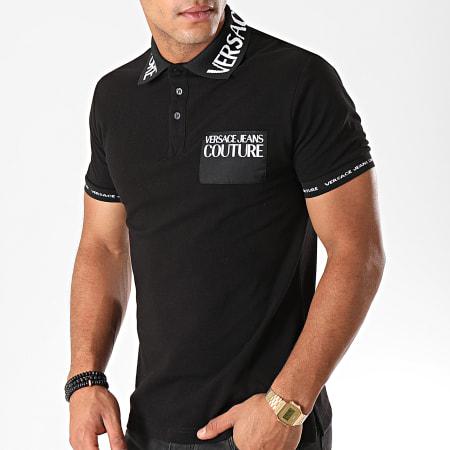 Versace Jeans Couture - Polo Manches Courtes 621 Logo B3GUB721 Noir Blanc