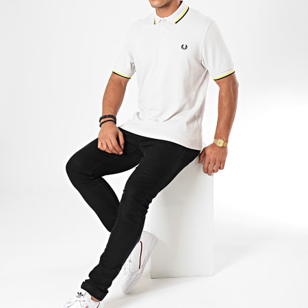 Fred Perry - Polo Manches Courtes Twin Tipped M3600 Gris Noir Jaune