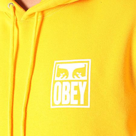 Obey - Sweat Capuche Eyes Icon Orange Blanc