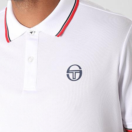 Sergio Tacchini - Polo Manches Courtes Reed 017 37382 Blanc Rouge Noir