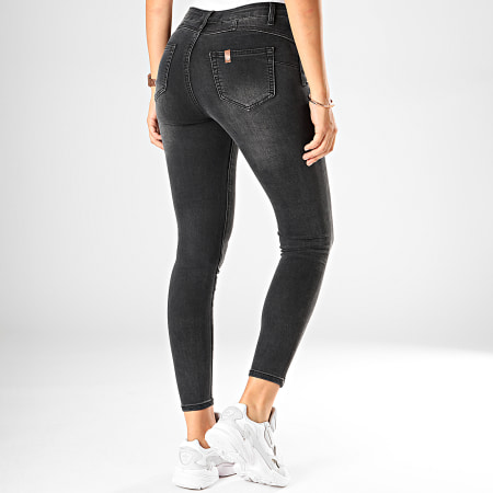 Girls Only - Jean Skinny Femme 090 Gris Anthracite