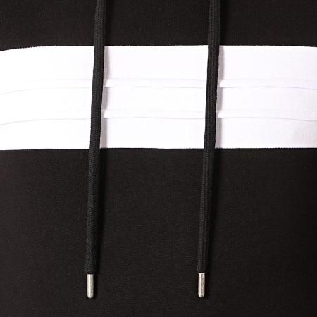 LBO - Sweat Capuche Bicolore 855 Noir Blanc
