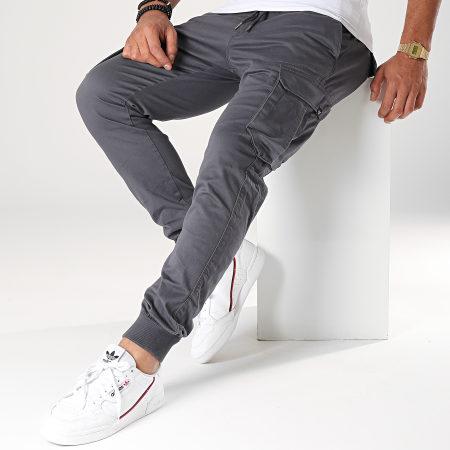 Reell Jeans - Pantalon Cargo Reflex Rib Gris Anthracite