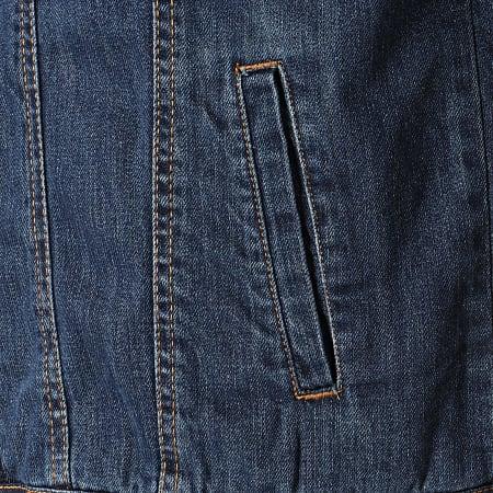 Urban Classics - Veste Jean Col Mouton TB1796 Bleu Denim