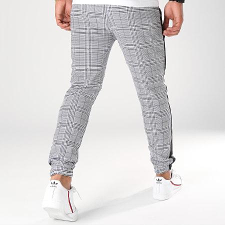 Frilivin - Pantalon A Carreaux Avec Bandes 1332 Gris