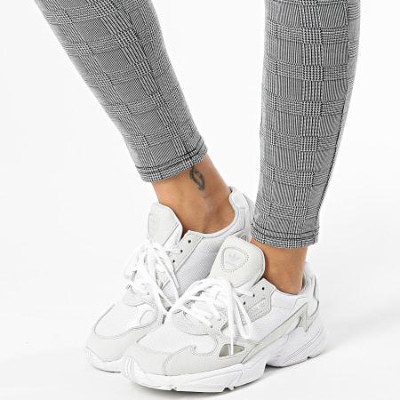 Girls Only - Pantalon Femme Skinny A Carreaux DT186 Gris Blanc Noir
