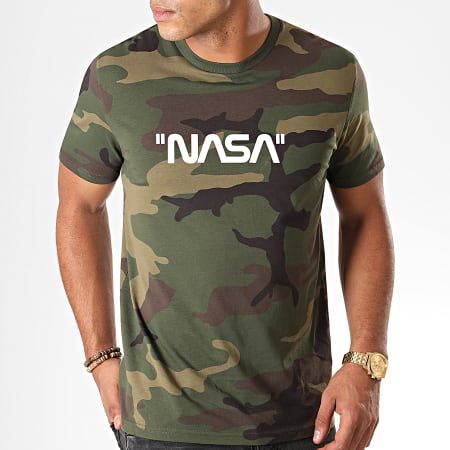 NASA - Tee Shirt Quote Camouflage Vert Kaki