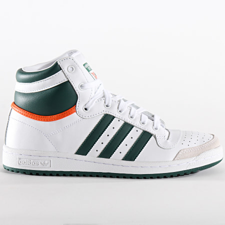 adidas - Baskets Top Ten Hi EF2516 Cloud White Collegiate Green Orange