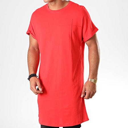 +av Frilivin - Tee Shirt Oversize 2074 Rouge