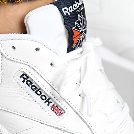 Reebok - Baskets Club C 85 MU FV2588 White Collegiate Navy Fiery Orange
