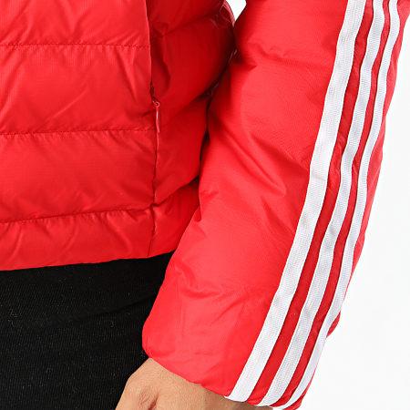 adidas Doudoune Femme Capuche A Bandes Slim ED4785 Rouge