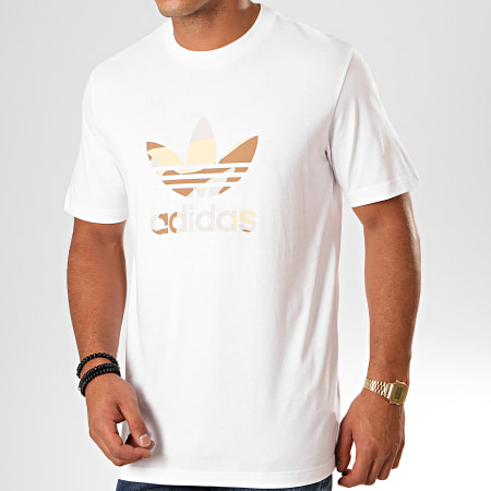 adidas - Tee Shirt Camouflage Infill ED6960 Blanc