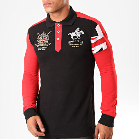 Geographical Norway - Polo Manches Longues Koduk Noir