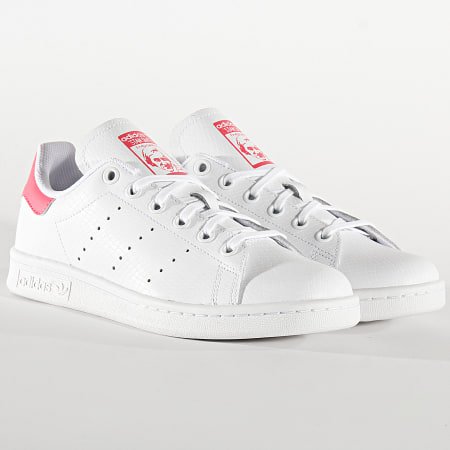 adidas - Baskets Femme Stan Smith EE7573 Footwear White Real Pink