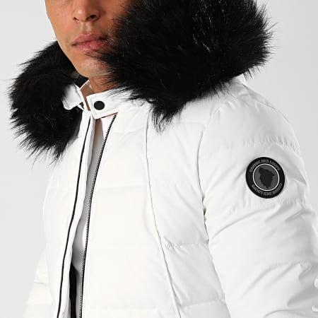 Comme Des Loups - Doudoune Chauffante Capuche Fourrure Moscow Blanc Noir