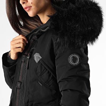 Comme Des Loups - Parka Chauffante Femme Fourrure Montreal Noir