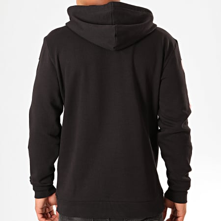 Only And Sons - Sweat Capuche A Bandes NASA Noir