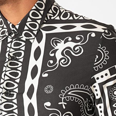 Uniplay - Chemise Manches Longues C012 Noir Blanc