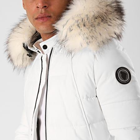 Comme Des Loups - Doudoune Chauffante Capuche Fourrure Moscow Blanc