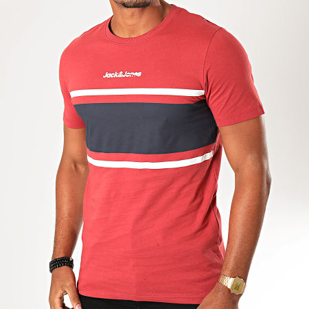 Jack And Jones - Tee Shirt Caine Rouge Brique