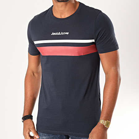 Jack And Jones - Tee Shirt Caine Bleu Marine