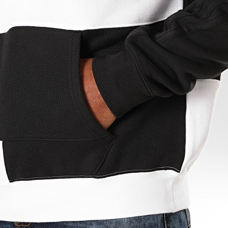 adidas - Sweat Capuche A Bandes Asymmetric Block ED5600 Noir Blanc