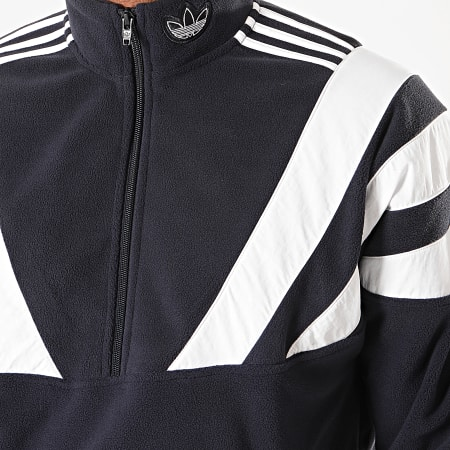 adidas - Veste Col Zippée A Bandes BLNT 96 QZ EE2343 Bleu Marine