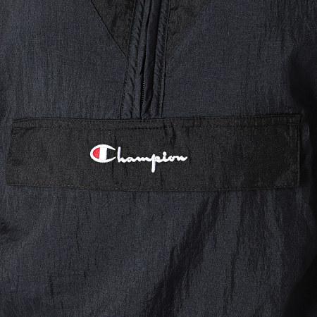 Champion - Sweat Capuche Col Zippé Femme Crop 112329 Bleu Marine