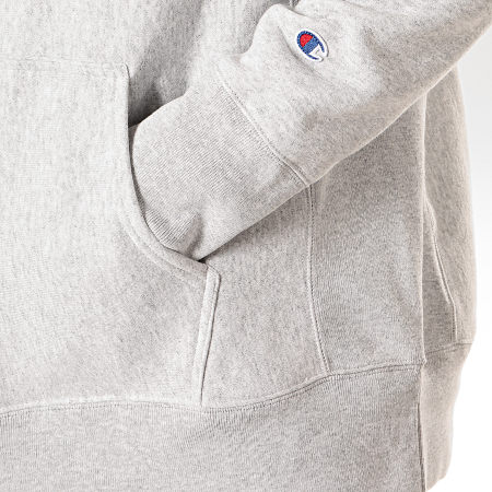 Champion - Sweat Capuche Oversize 213660 Gris Chiné